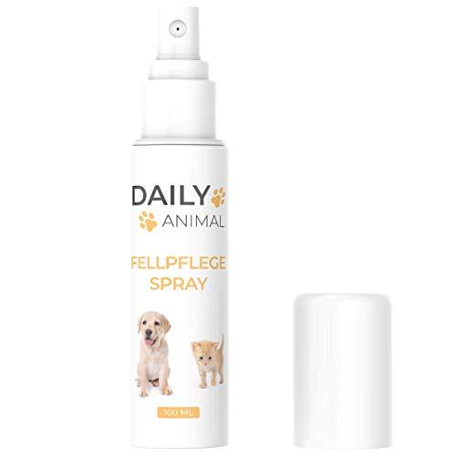 PowerSupps Daily Animal Fellpflege Spray mit Rosenwasser für Fellglanz, gut duftend und für alle Felltypen geeignet - Haustier - Hund und Katze - Pflege für Kurzhaar und Langhaar
