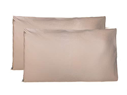 Funda Almohada 50x80 cm de algodón 100%, Transpirable sin Cremallera, Juego de 2 Fundas Almohadas 50x75 cm, Made in Italy