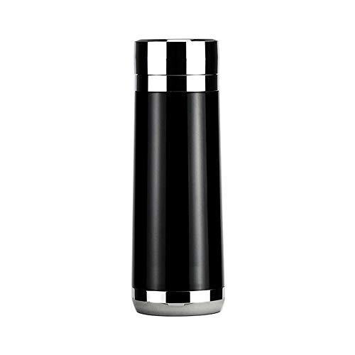 GQSC 12V Coche eléctrico Cup, 100 Coche eléctrico Cup Grado, Coche hervidor eléctrico, Termo de Viaje, hervidor de Acero Inoxidable, Regalos (Color : Black1, Size : 190x70mm)