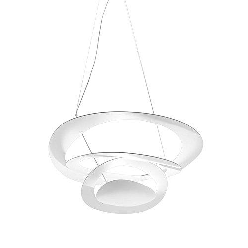 Artemide Pirce Micro Suspension Pendelleuchte, Aluminium, 28 W, Weiß, 46,5 x 48 x 13 cm