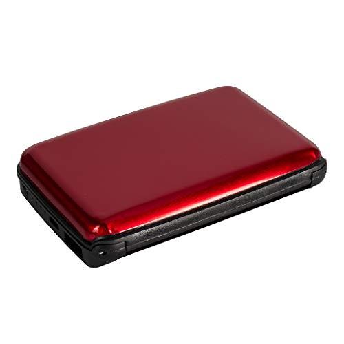 RFID Power Wallet Powerbank Rot | 2500 mAh | Zusatzakku für Smartphones, Tablets & Kameras | Schutzhülle für Kreditkarten