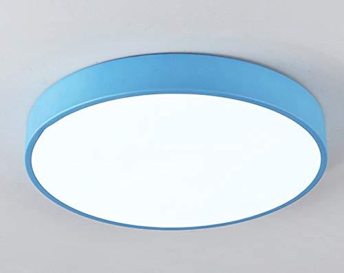 Ultra-minces Modernes Ronds Plafonniers- Plafonnier de LED Pour L'éclairage à La Maison de Famille de Salon Blanc Froid 18W Bleu