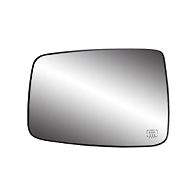 Fit System Dodge RAM Right Side Heated Power Replacement Mirror Glass with Backing Plate