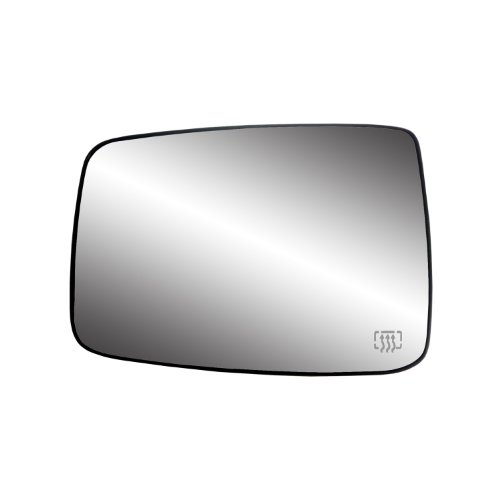 """Fit System 33244 Driver Side Heated Mirror Glass w/Backing Plate, Dodge Ram Pick-Up 1500, Ram Pick-Up 2500, 3500, 6 3/8"""" x 9"""" x 10"""" (w/o Towing pkg, w/o auto dimming)"""