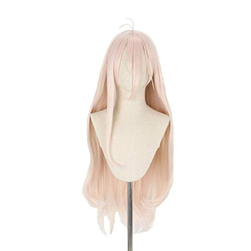 ANOGOL Wig Cap+Pink Cosplay Wig Long Straight Synthetic Wig Hair for Anime