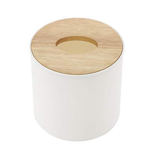 Enerhuティッシュケース 木製カバー トイレットペーパーケース おしゃれ ティッシュボックス 円柱 トイレットペーパーボックス ロールティッシュケー