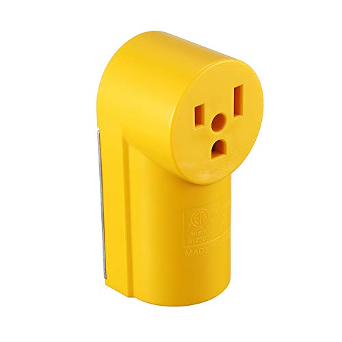 Miady NEMA 6-50R Receptacle, 50 Amp 125/250 Volt, Surface Mount Power Outlet, Yellow, ETL Listed