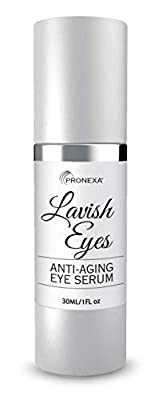 Pronexa Hairgenics Lavish Eyes: Anti-Aging Under Eye Gel Serum to Reduce the Appearance of Dark Circles, Puffiness, Bags, Wrinkles, Fine Lines & Crows Feet Around Eyes. 1.0 FL OZ.