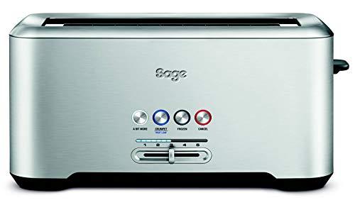 Sage BTA730UK the Bit More 4 Slice Long Slot Toaster - Silver