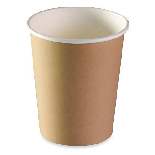LE PETIT FOURNISSEUR   500 Gobelets Carton Brun 24cl   100% Recyclable   Boissons Chaudes ou Froides