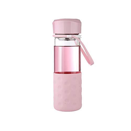 CZPF-ultieme isolatie, dubbele roestvrij stalen thermoskan glas draagbare schattige dikke bloem cup filter beker hittebestendige beker