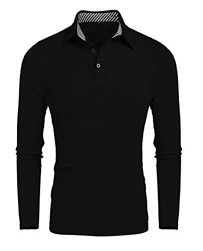 Oyamiki Polo Shirts for Men Moisture Wicking Long Sleeve...