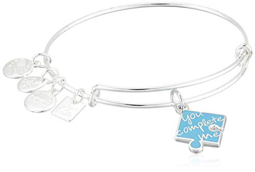 Alex and Ani You Complete Me Bangle Shiny Silver One Size