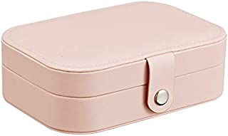 Simple 2-Layer Earrings Plate Jewelry Box Earrings Ring Multi-Function Jewelry Storage Box Dust-Proof Box