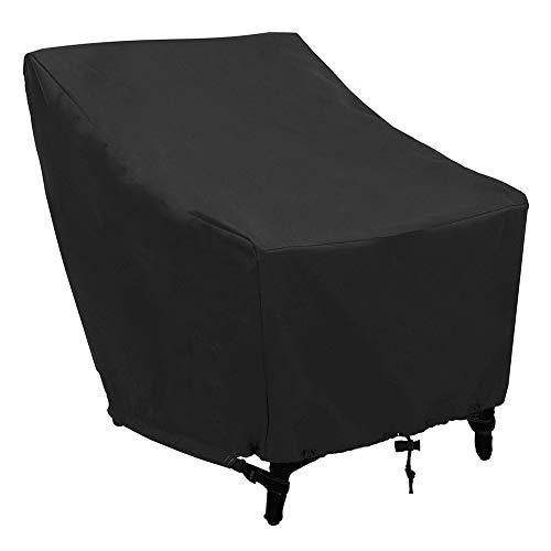 Housse de Protection pour chaises de Jardin empilables, Couverture de Patio Anti-UV/Anti-Vent/Imperméables Tissu 210D Oxford chaises empilables, Revêtement Universel pour fauteuils de Jardin(1pc)