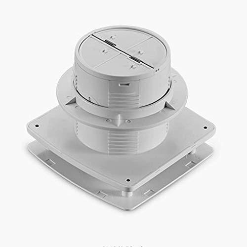 Extractor De Aire, Extractor Cocina Ventilador de escape del baño, ventilador de ventanas Ventilador de escape ventilador de ventilación impermeable, 4 'Tipo de ventana Mute con válvula de retención p