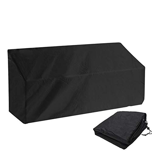 2/3/4 Seater Bench Cover,Garden Bench Cover,Long Chair Cover,Waterproof Breathable Outdoor Bench Seat Cover Breathable UV Resistant Outdoor Bench Seat Cover Polyester Protector Furniture(3 Seat)