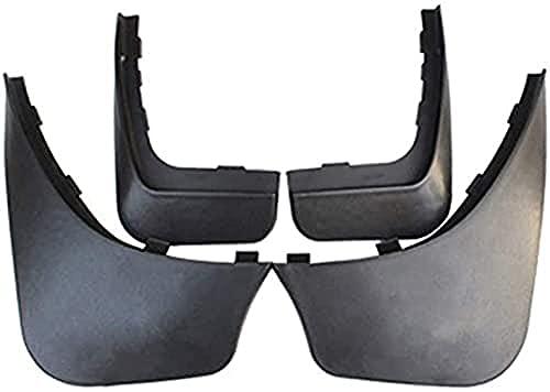 4 Pcs Guardabarros Delanterosy Traseros para Coche, para Smart Fortwo W451 451 2008-2014 Guardabarros Accesorios Guardabarros Protección Mudguard con tornillos de fijación