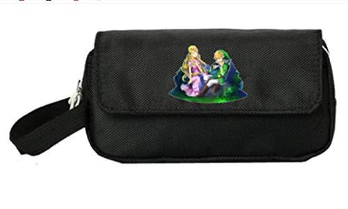 Zelda Bleistiftbox Spiel Zelda große Kapazität Federmäppchen Jungen Leinwand mehrschichtige Kinder Federmäppchen Universität Mittelschüler Federmäppchen