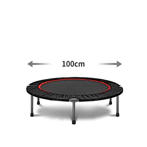 JY&WIN Dynamic Sport Fitness Indoor Trampoline & Oslash;100/121 cm, Redondo, cordón elástico Colgante, Cubierta de Borde Azul, Puede Transportar 250 kg