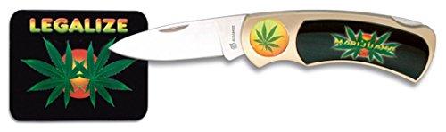 SATISFAIT OU REMBOURSE Martinez Albainox Cooles Taschenmesser Cannabis Weed Gras Marihuana Hasch