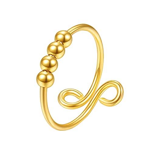 Rings for Women Ring Adjustable Finger Single Coil Spiral