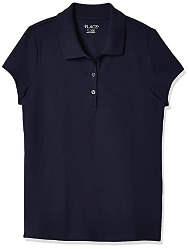 The Children's Place Girl's Short Sleeve Pique Polo, Tidal, Small