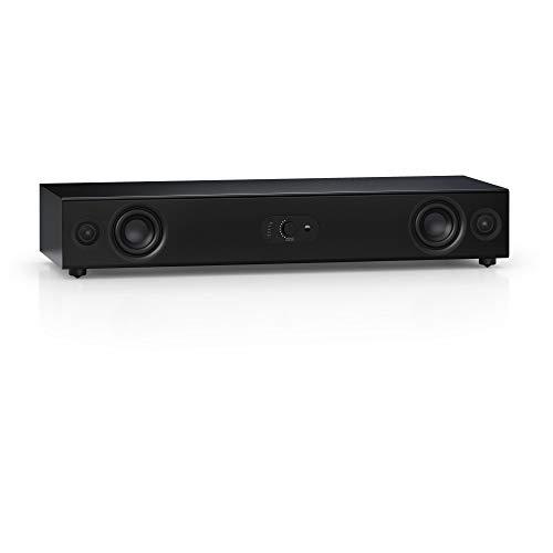 Nubert nuPro AS-3500   Schwarze Soundbar für HiFi   Soundplate mit Dolby Audio und DTS   vollaktiver TV-Lautsprecher für Spitzenklang   Soundbase mit Bluetooth aptX HD   Stereobase in 2 Wege Technik