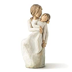 Sentiment: Laughter with love always written on enclosure card 6 Inch hand-painted resin figure; ready to display on a shelf, table or mantel; to clean, dust with soft brush or cloth. Avoid water or cleaning solvents. A gift to celebrate the loving r...