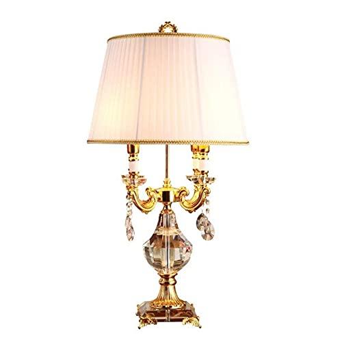 Lámpara de mesa Lámparas de escritorio lámpara de cama de cristal lámpara de noche de luz cálida K9 Base de cristal E14 Bulb 110V ~ 240V para camisetas de botón de pulsador para el hogar Lámparas de m
