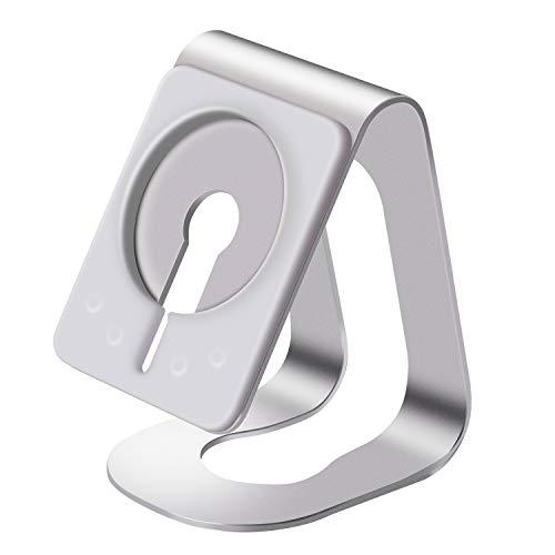 iWonbrey Soporte de escritorio para teléfono celular para cargador MagSafe, compatible con iPhone 12/12 Mini/12 Pro/12 Pro Max-Silver