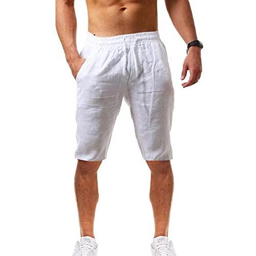 Dasongff Pantalones cortos de deporte para hombre, pantalones cortos informales, pantalones de chándal cómodos con bolsillos con cordón, corte holgado, para fitness, aire libre, verano, tiempo libre