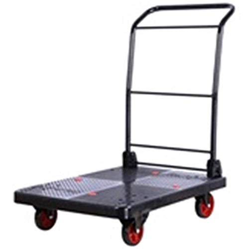 GUONING-L Shopping Trolley Household Folding Portable Mute Trolley Car Shopping Cart Luggage Car Retractable Load Bearing 300kg trolley (Color : A) Trolley
