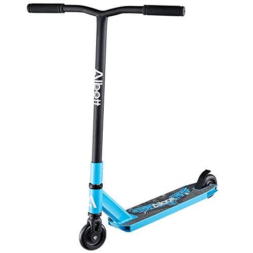 Albott Stunt Scooter Pro Roller Freestyle Stunt Roller Kickscooter, Tretroller, Trick Roller mit 6061 Aluminium Deck und ABEC Lager für Kindern und Erwachsene Einsteiger ab 8 Jahre Blau