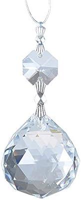 10 PCS Vintage Teardrop Chandelier Crystal Pendants Glass Prisms 50MM +2 Beads
