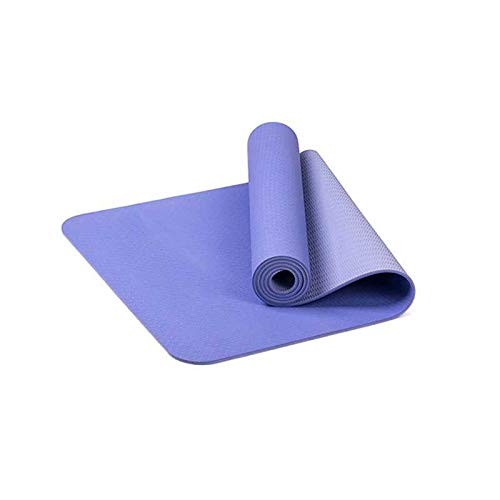 LANGY Non Slip Yoga Mat Gemaakt met Natuurlijke Rubber Fitness Oefening Mat Strap-Workout Mat voor Yoga Pilates Vloer Oefeningen