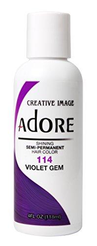 Adore Glänzende semi-permanente Haarfarbe, 114 violette Edelsteine