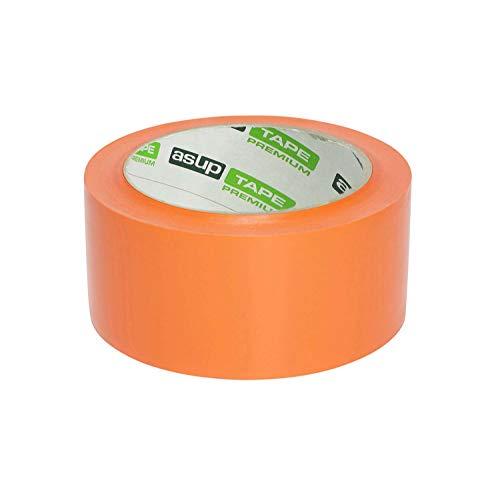 asup TAPE PREMIUM Gewebeklebeband 48 mm x 50 m orange - Qualitäts-Klebeband für den Profi-Bereich mit einzigartiger Klebkraft.