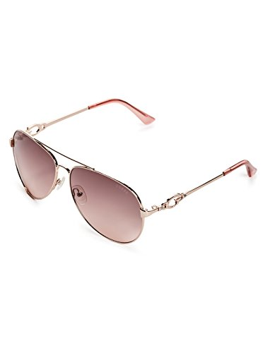 GUESS GF6064 Shiny Rose Gold/Brown To Pink Gradient Lens One Size
