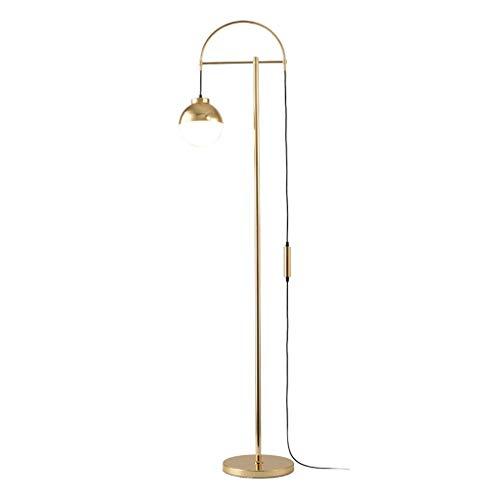 Lampes de chevet Lampadaire Salon Canapé Chambre Lumière Luxe Personnalité Lampadaire Nordic Décoration Creative Lampadaire en Métal (Color : Gold, Size : 28 * 160cm)