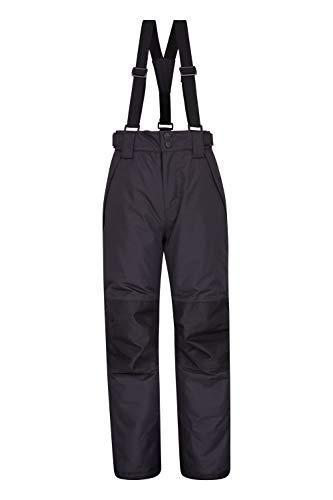 Mountain Warehouse Falcon El esquí Extremo de los Cabritos - los Fondos Grabados de Las Costuras, Pantalones de los niños Impermeables, Polainas, Invierno Carbón 11-12 Años