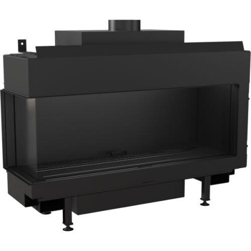 Gaskamin Kratki LEO 100 schwarz für Erdgas LPG Thermische Steuerung Gas-Art LPG, Ausführung Links