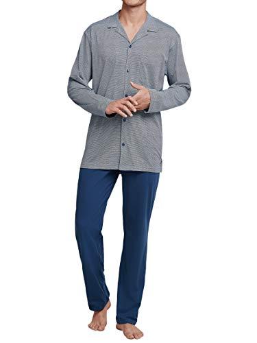 Seidensticker Blue Horizon Pyjama durchgeknöpft Herren