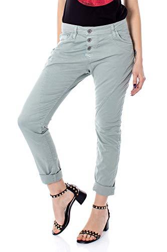 Please Jeans Damen p78a m07 Baggy Color p78adr7m07 XXS lichtgrau