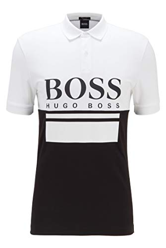 BOSS Herren Pavel Poloshirt aus Jersey mit großem Logo