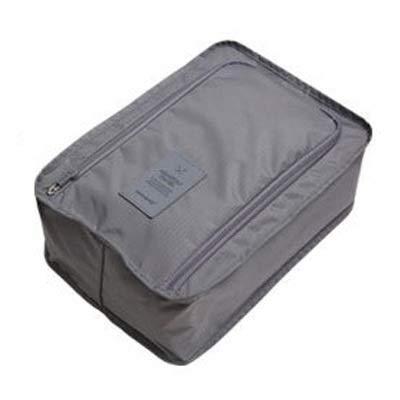 FEIYI Bolsa de viaje impermeable para zapatos, bolsa de almacenamiento portátil, organizador de zapatos, bolsa de almacenamiento para el hogar con cierre de cremallera (color: gris)