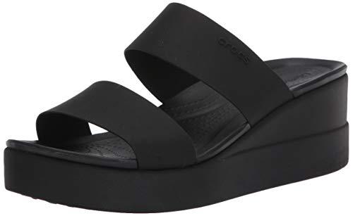 Crocs Brooklyn Mid Wedge W, Chanclas Tiempo Libre y Sportwear Mujer, Multicolor Black Black, 36 EU