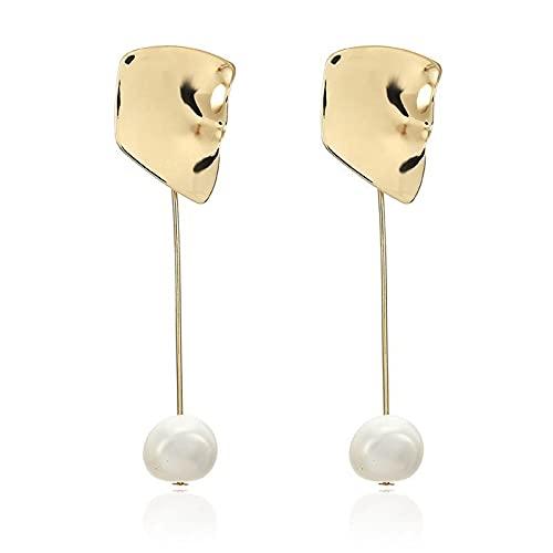 1 pieza de pendientes para mujer con colgante de perla vintage irregular