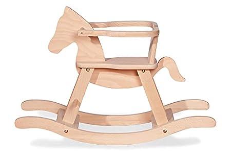 Schaukelpferd Pinolino mit Ring aus massivem Holz