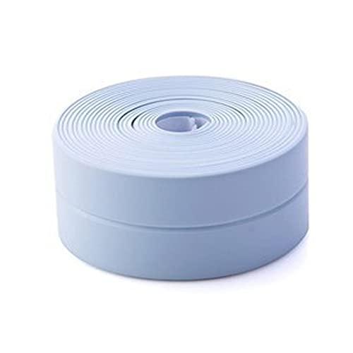 防水テープ 防カビテープ 防汚補修テープ コーナーテープ 隙間テープ のり残らず 防油 防汚 防カビ 防水 汚れ防止 強力 自己粘着 お風呂 キッチン バスルーム 浴槽まわり ベランダ 洗面台用 3.2M * 2.2Cm ブルー